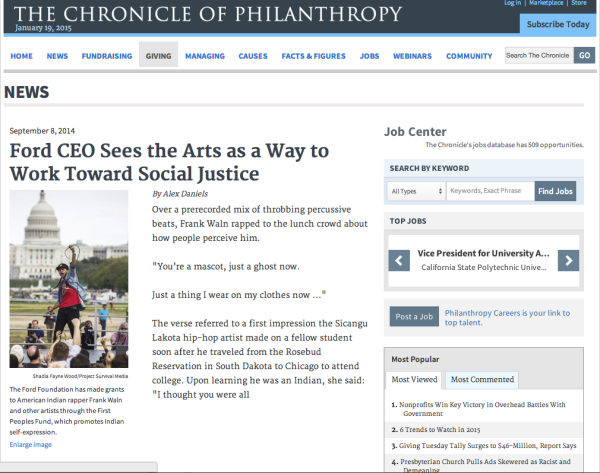 The Chronicle of Philanthropy